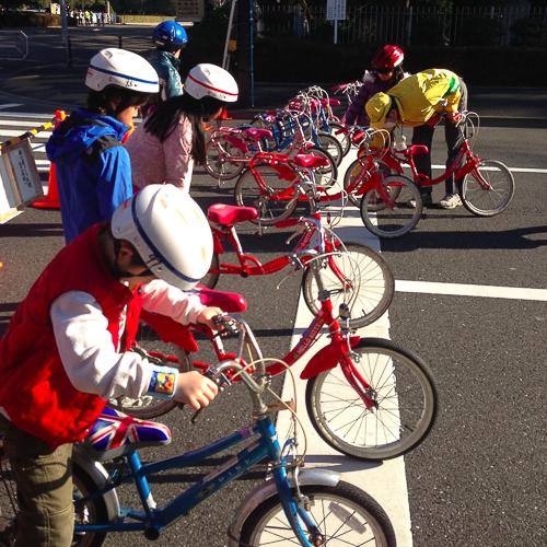 велосипеды в Токио, урок