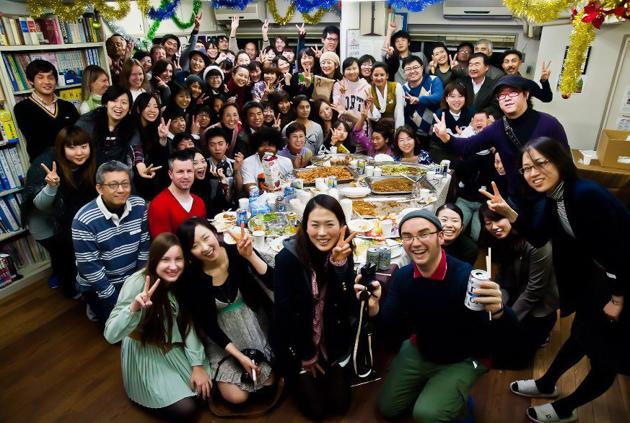 Вечеринка в школе японского языка Китидзёдзи по случаю празднования Нового года