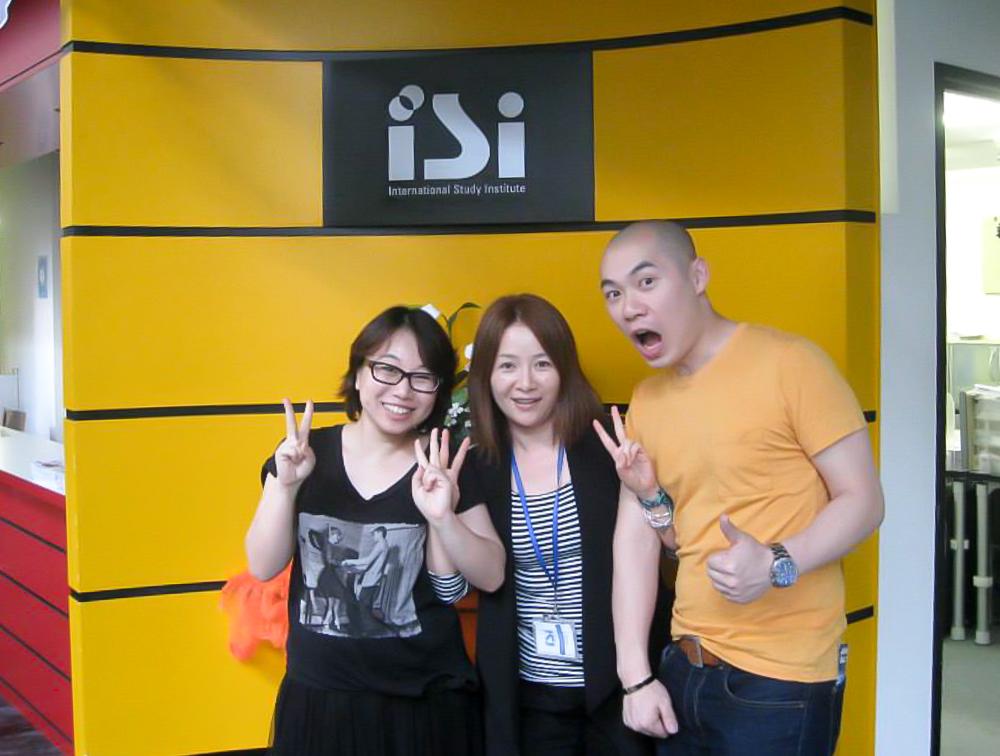 Имаи-сенсей и выпускники школы японского языка ISI
