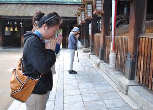 Посещение храма в Киото