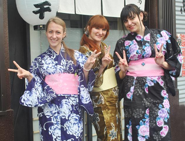 кимоно, студентки языковой школы
