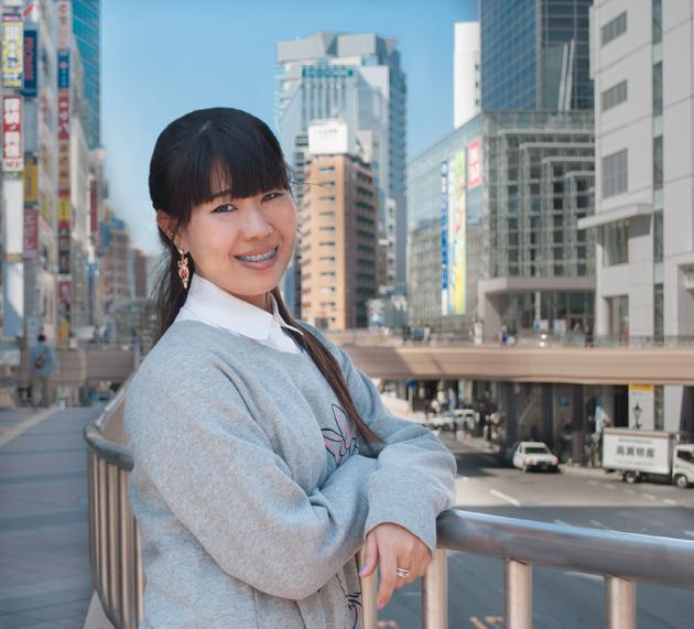 Студентка школы SLS (школа японского языка в городе Сендай)