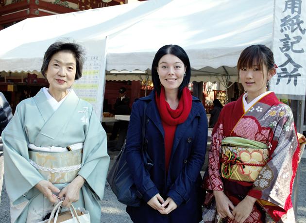 японские кимоно, храм