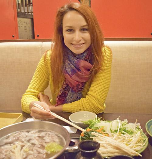 автор блога, студентка языковой школы, ресторан в Японии