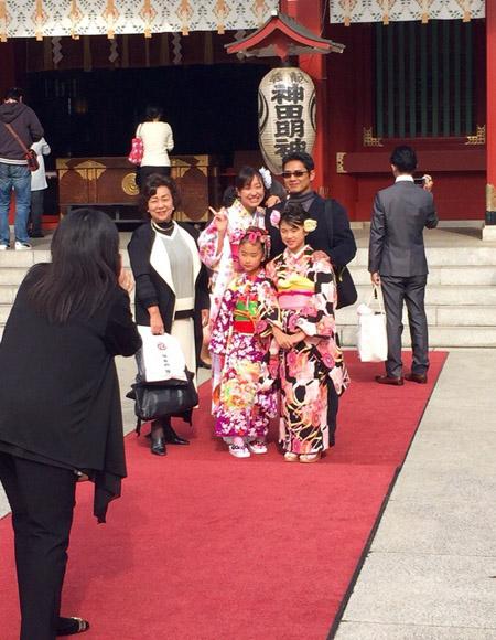 храм в Японии, кимоно
