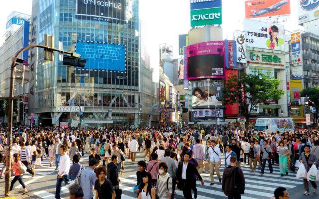 перекресток в Токио