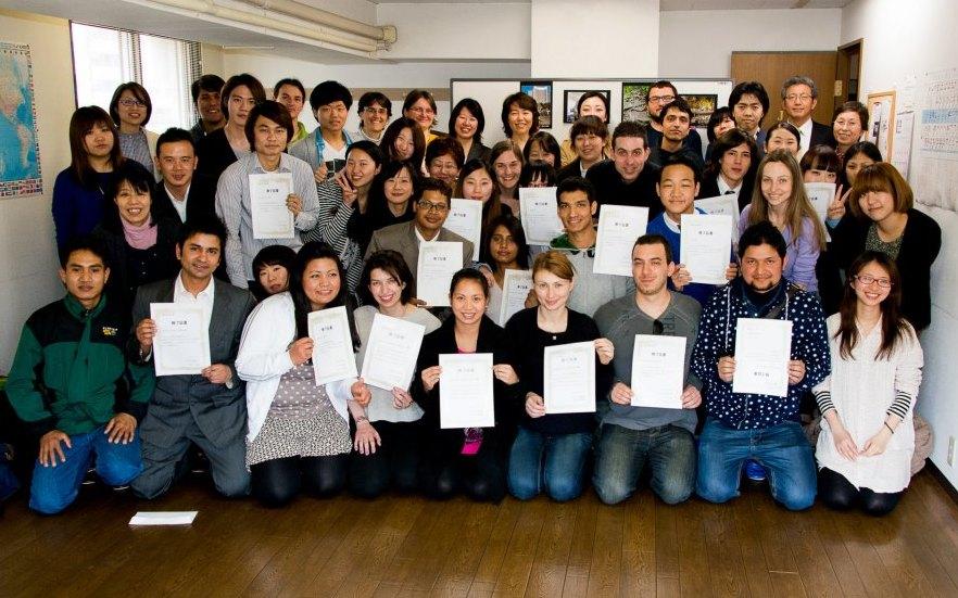 студенты школы Китидзёдзи, выпускной