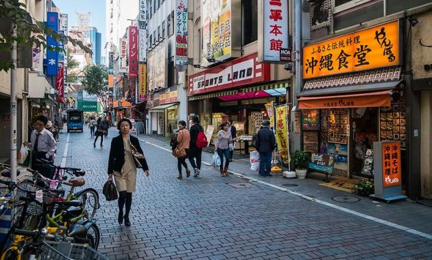 Утро в Токио