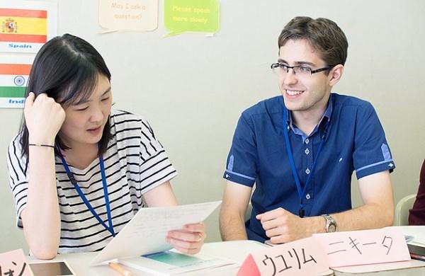в языковой школе в Токио