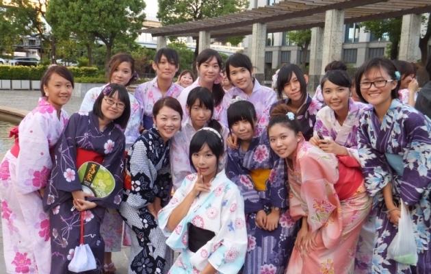 прогулка в кимоно по Кобе