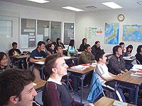 Урок в школе японского языка «Сэндай»